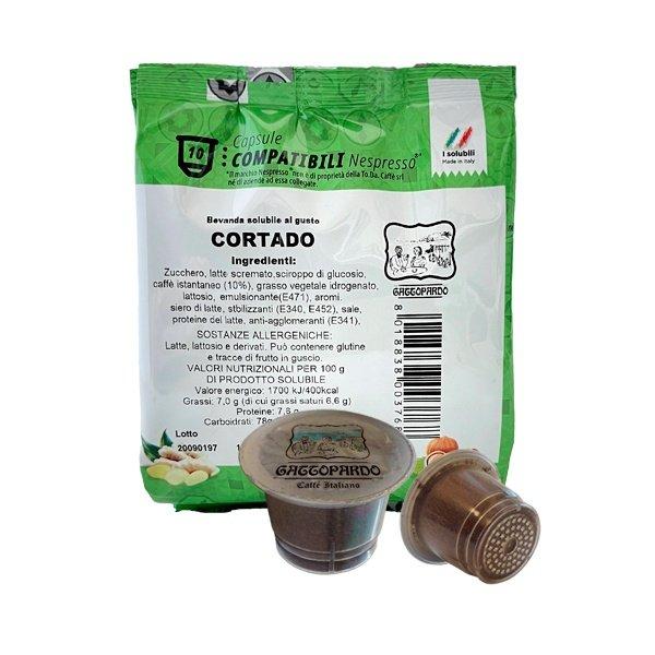 10 capsule Gattopardo Cortado compatibili Nespresso