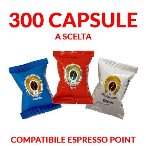 300 capsule caffè del maniscalco compatibili espresso point