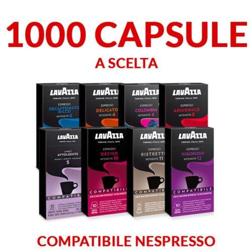 Offerta promo 1000 capsule Lavazza compatibili Nespresso