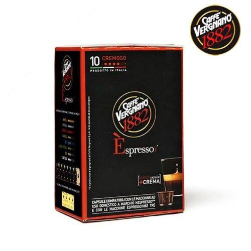 10 capsule caffè Vergnano CREMOSO compatibili nespresso