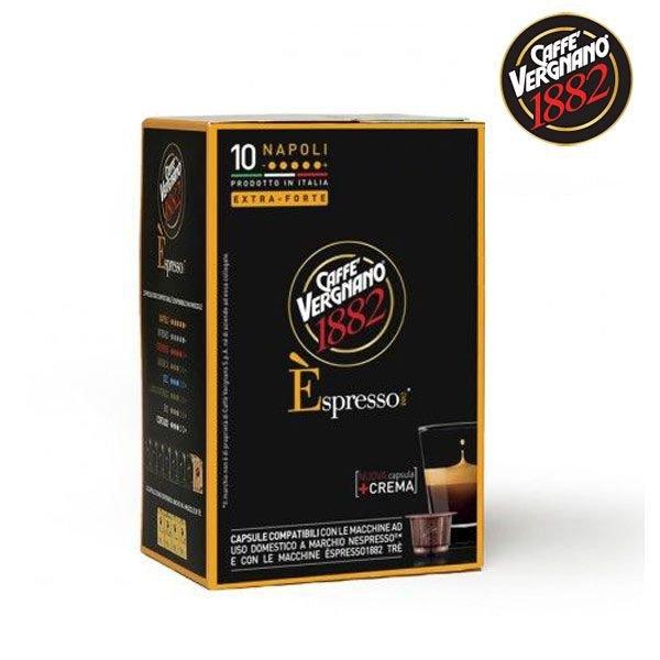 10 Capsule Caffè VERGNANO NAPOLI Compatibile Nespresso