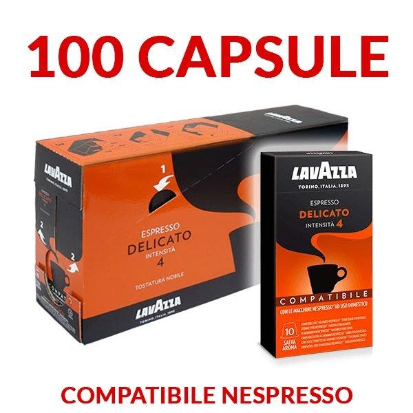 100 capsule caffè Lavazza Delicato compatibili Nespresso