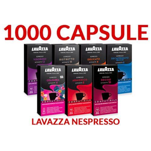 Offerta 1000 capsule a scelta Lavazza compatibile Nespresso