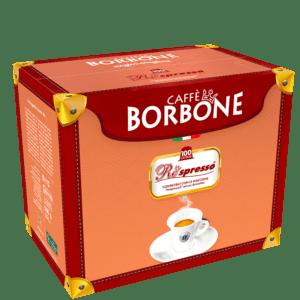 100 capsule caffè Borbone REspresso miscela Nera compatibili Nespresso