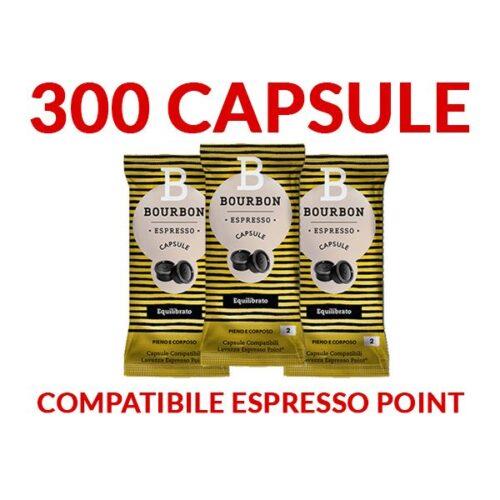 300 Capsule caffè Bourbon EQUILIBRATO Espresso Point SPEDIZIONE INCLUSA