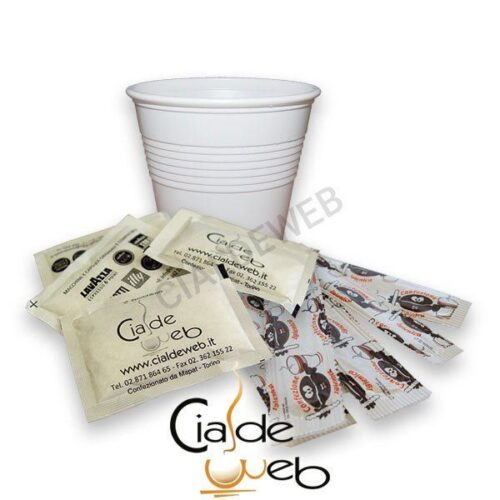 Kit accessori bicchieri zucchero e palette 100 + 100 + 100