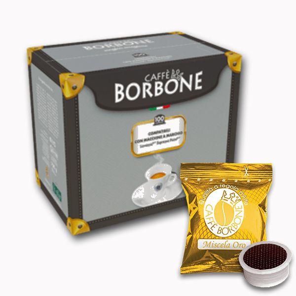 100 capsule caffè Borbone miscela ORO compatibili Espresso Point