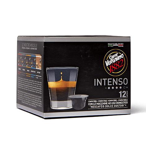 Caffè Vergnano compatibile Dolcegusto 12 capsule miscela intenso