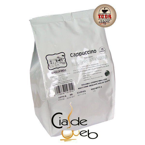 16 capsule Toda Dolce gattopardo Cappuccino compatibili nesCafè Dolcegusto