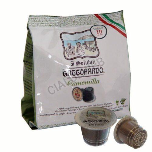 10 capsule Gattopardo Camomilla compatibili nespresso