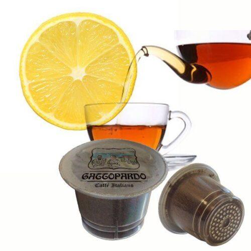 10 capsule Gattopardo Te al limone compatibili nespresso