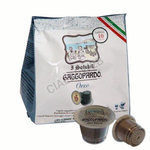 10 capsule Gattopardo Orzo compatibili nespresso