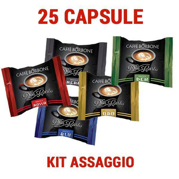 Borbone DonCarlo compatibile A Modo Mio 25 capsule miste