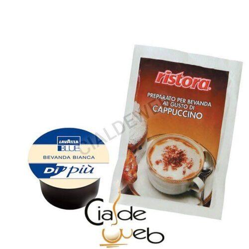 50 cialde latte LavAzza Blue + Cappuccino Ristora