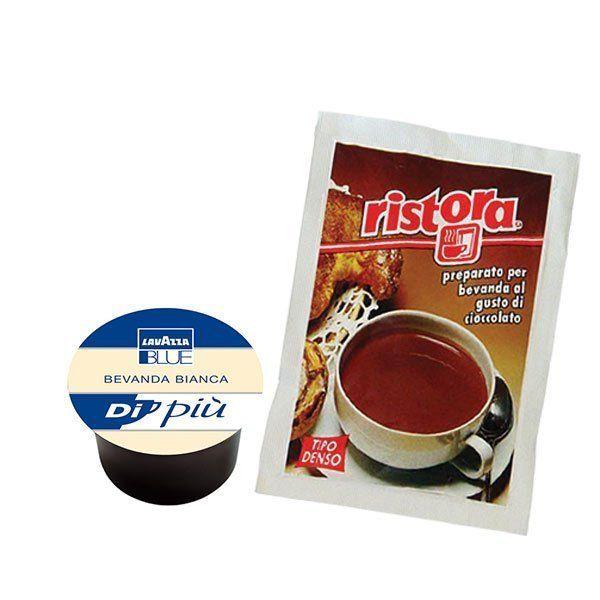 50 cialde Latte LavAzza Blue + Cioccolata Ristora 50 erogazioni