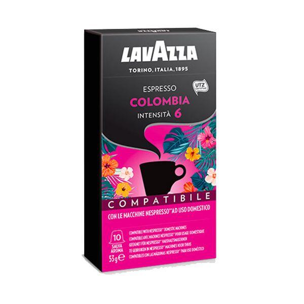10 capsule caffè Lavazza COLOMBIA compatibile Nespresso