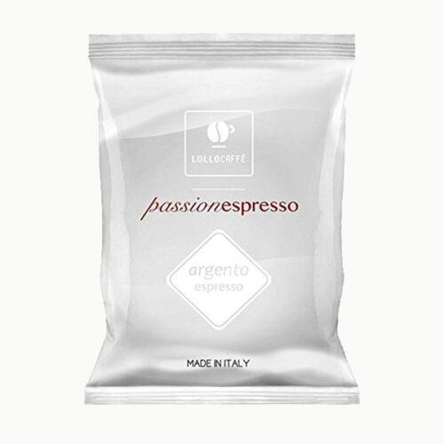100 capsule Lollo caffè miscela Argento compatibile nespresso