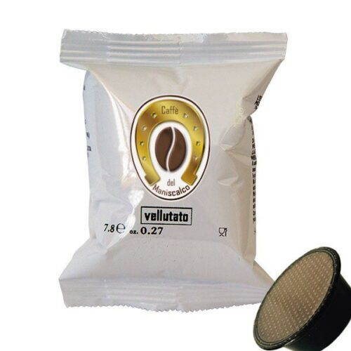 50 capsule caffè del Maniscalco Vellutato compatibili A Modo Mio
