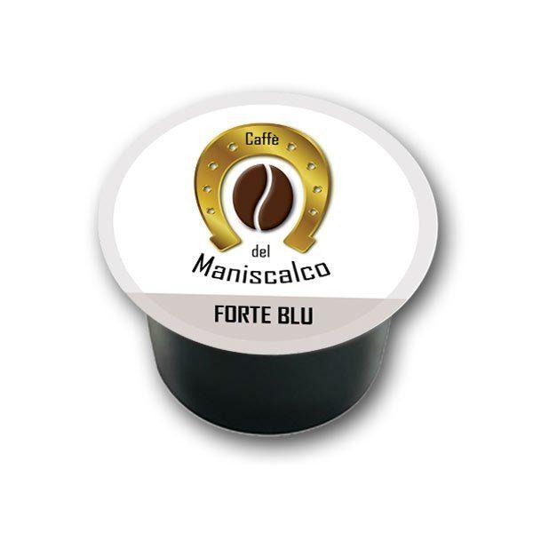 100 capsule caffe del Maniscalco Forte Blu per LavAzza Blue