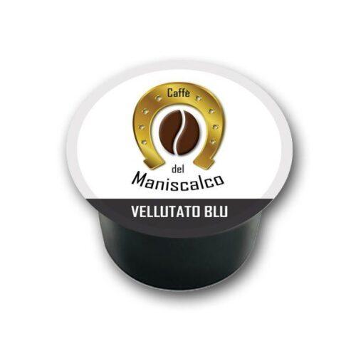 100 capsule caffe del Maniscalco Vellutato Blu per LavAzza Blue