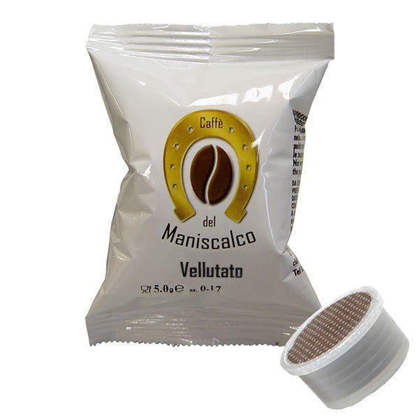 100 cialde Maniscalco Vellutato Aroma compatibile Lavazza Espresso Point
