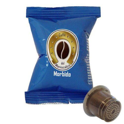 100 capsule caffè del Maniscalco Morbido compatibile Nespresso