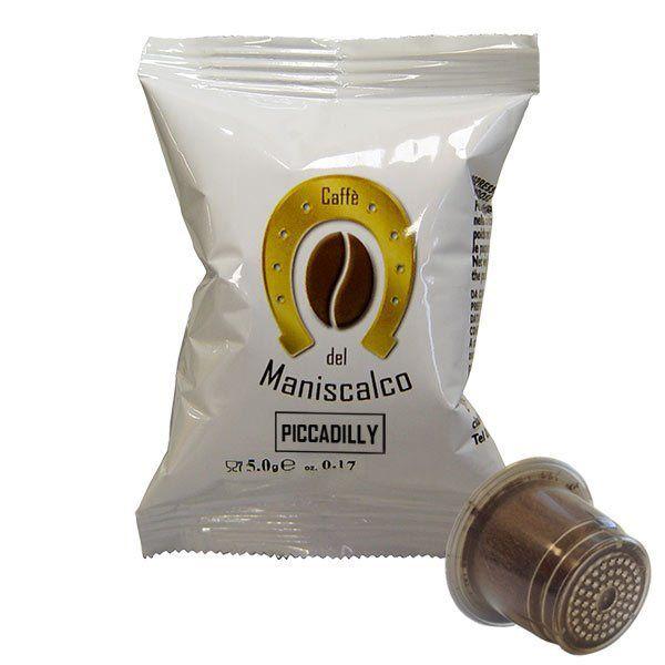 100 capsule caffè del Maniscalco Piccadilly compatibile Nespresso