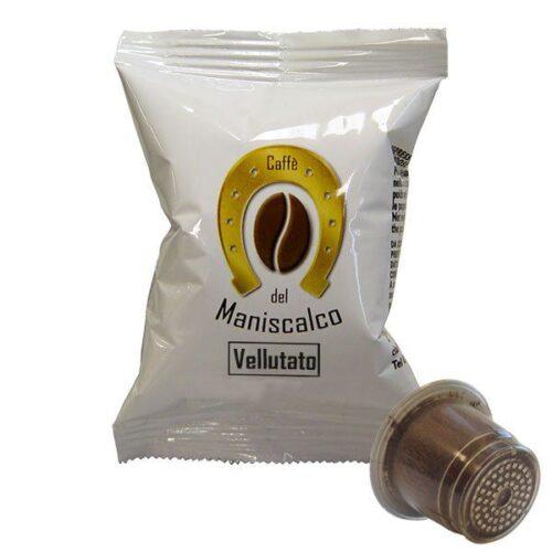100 capsule caffè del Maniscalco Vellutato compatibile Nespresso