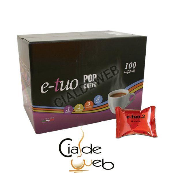 100 capsule Pop Caffè e-tuo 2 Cremoso compatibile Coop - Fiorfiore - Lui