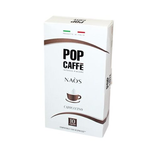 10 capsule Pop Caffè NAOS CAPPUCCINO compatibile NESPRESSO