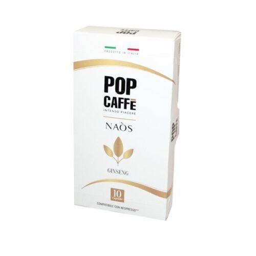 10 capsule Pop Caffè NAOS GINSENG compatibile NESPRESSO