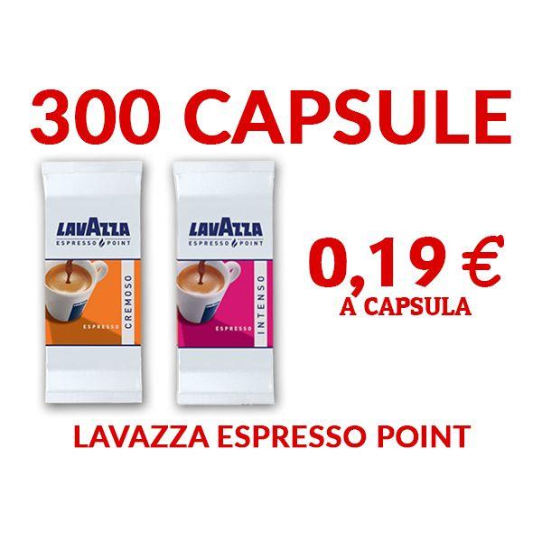 300 capsule Lavazza Cremoso o Intenso Espresso Point A SCELTA