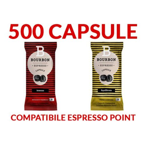 500 Capsule LavAzza Bourbon -TRASPORTO GRATIS-