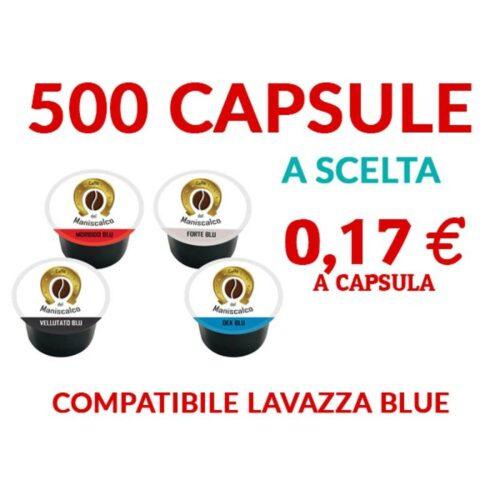 500 cialde Maniscalco Blue compatibili LavAzza Blue