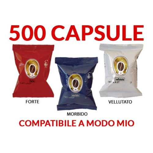 500 Capsule compatibili A Modo Mio Maniscalco