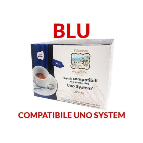 100 capsule Gattopardo Blu compatibili Uno System