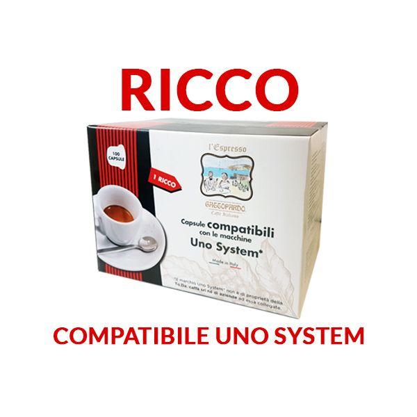 100 cialde Gattopardo Ricco compatibili Uno System
