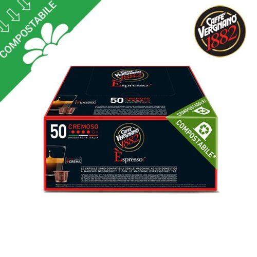 50 capsule compostabili Vergnano CREMOSO per Nespresso