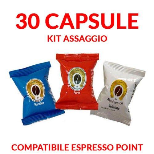 30 capsule caffè del maniscalco compatibili espresso point