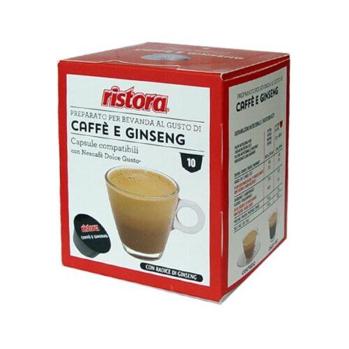 10 capsule Ginseng solubile Ristora compatibile Dolce Gusto
