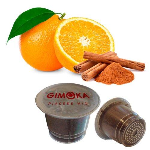 10 capsule Arancia e cannella Gimoka compatibili nespresso