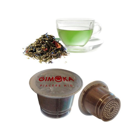 10 capsule The verde Tuareg Gimoka compatibili nespresso