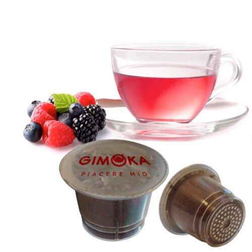 10 capsule Tisana frutti di bosco Gimoka compatibili nespresso