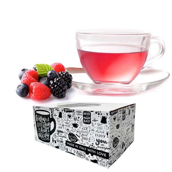 Box 10 capsule Tisana frutti di bosco Gimoka compatibili nespresso