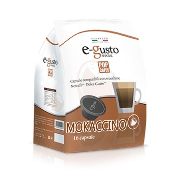 16 capsule Mokaccino Pop Caffè compatibili Dolce gusto
