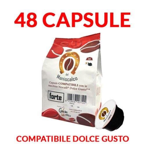 capsule caffè del maniscalco forte compatibili dolcegusto