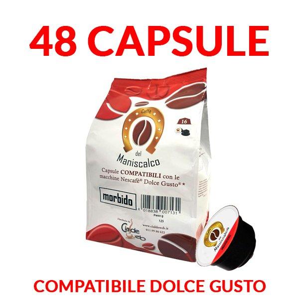 capsule caffè del maniscalco morbido compatibili dolcegusto