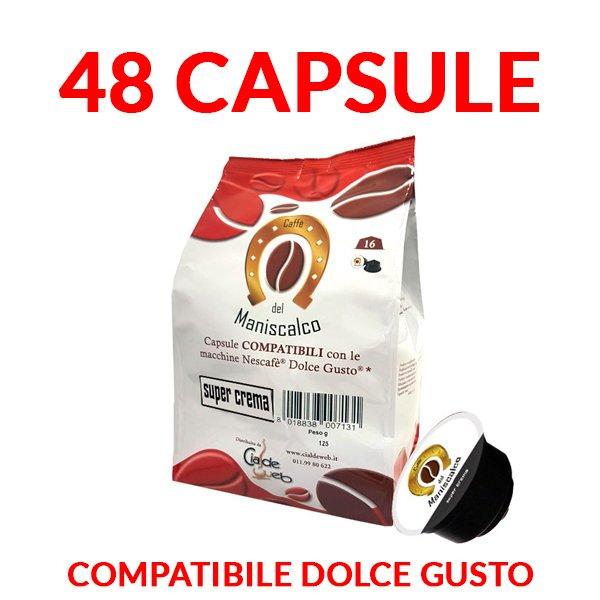 capsule caffè del maniscalco super crema compatibili dolcegusto